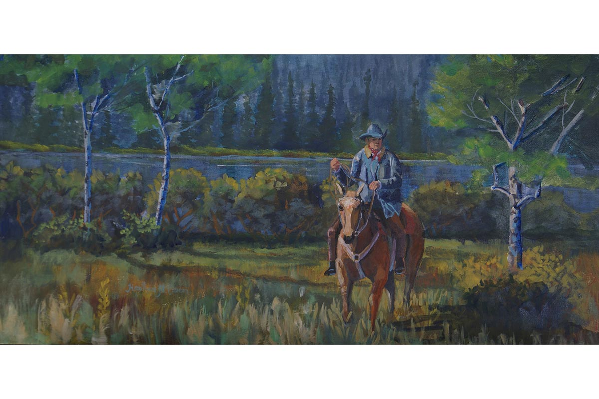 Riding the Range painting
