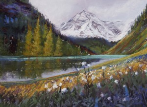 Days on the easel with Maroon Lake